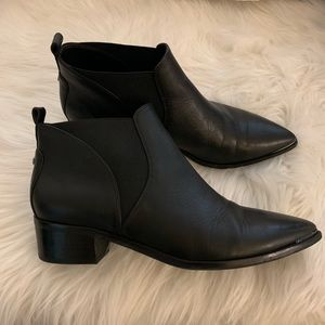 Marc Fisher black leather Booties